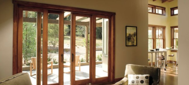 Double pane sliding doors